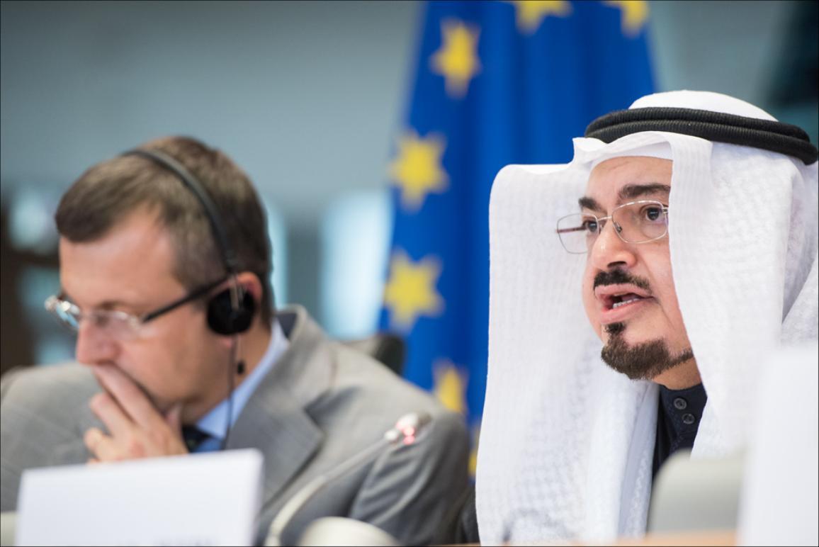 Muhammad bin Amin Al-Dschafri auf dem Podium