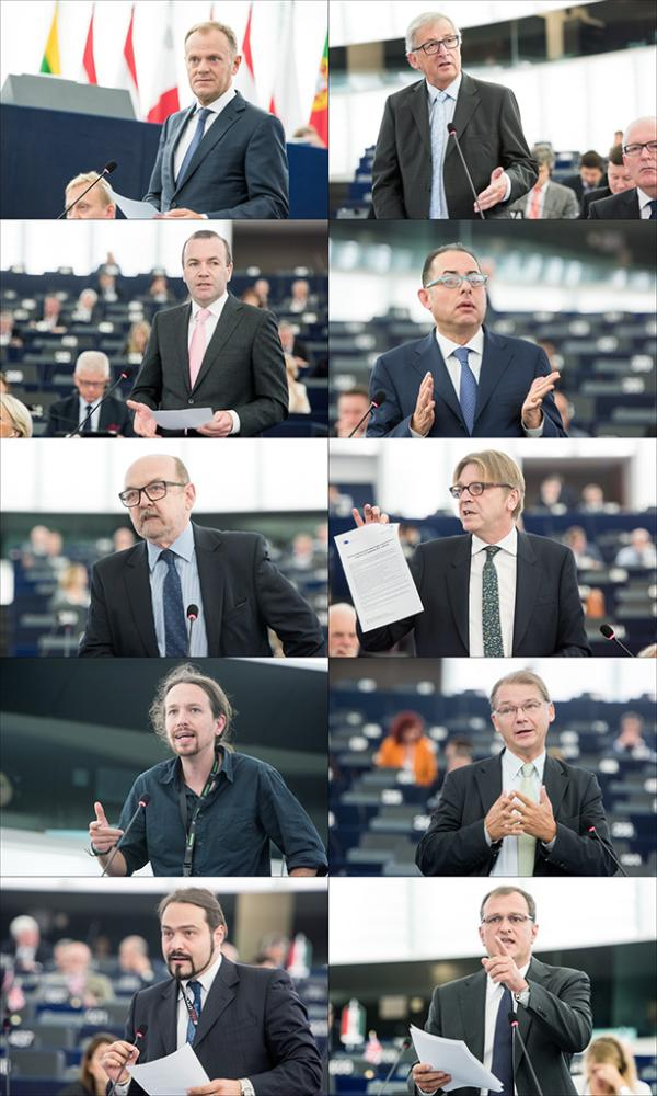 EP plenary debate on EU summit & refugee crisis with EC Presidnet Juncker and CE President Tusk
