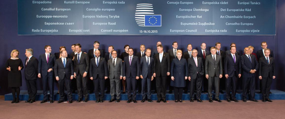 15th of October 2015 European Summit family photo ©European Union 2015 - European Council