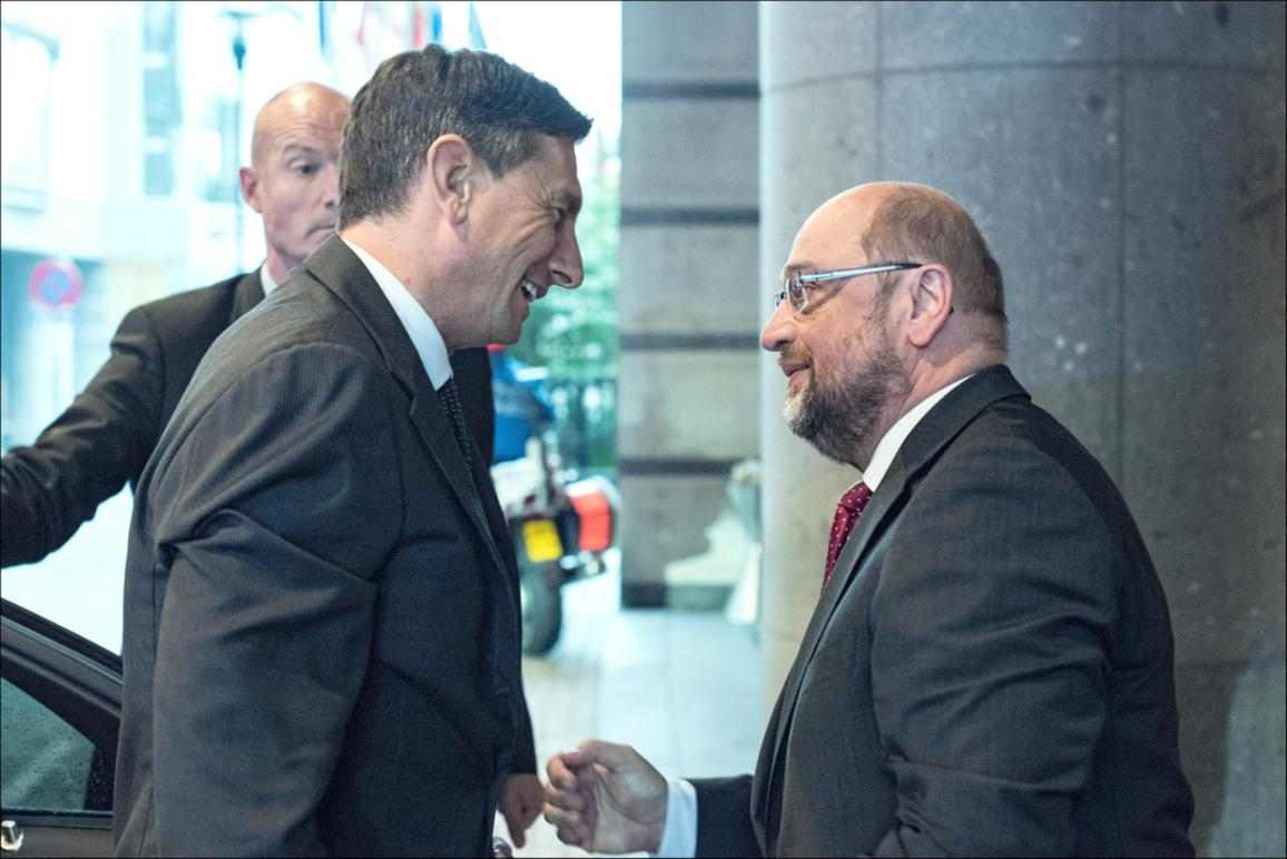 EP President Martin Schulz and Borut Pahor, President of Slovenia