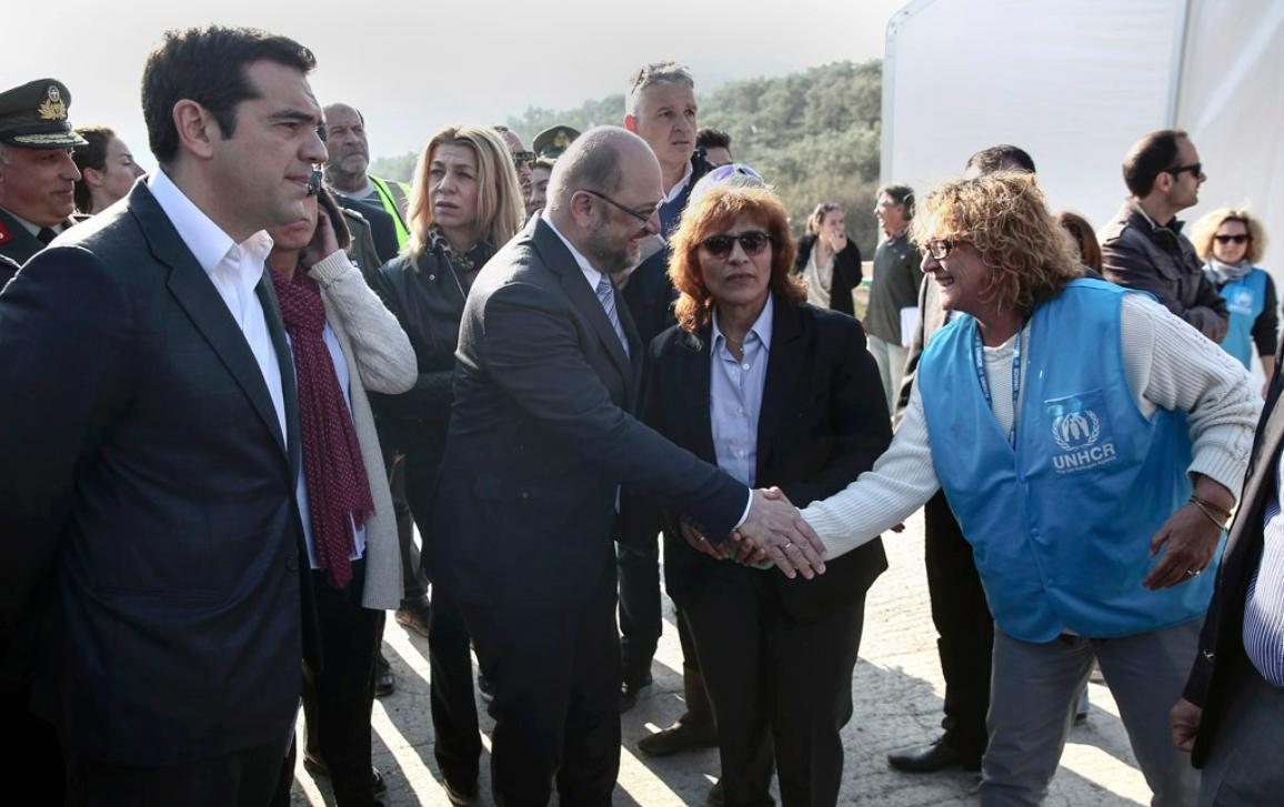 EP President Schulz is in Lesbos_