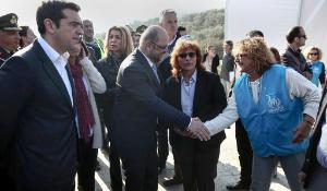 EP President Schulz is in Lesbos