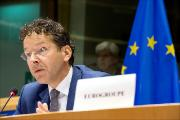 Eurogroup President Jeroen Dijsselbloem in a meeting at the European Parliament