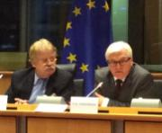 AFET Chair Elmar Brok with German Foreign Minister Frank-Walter Steinmeier