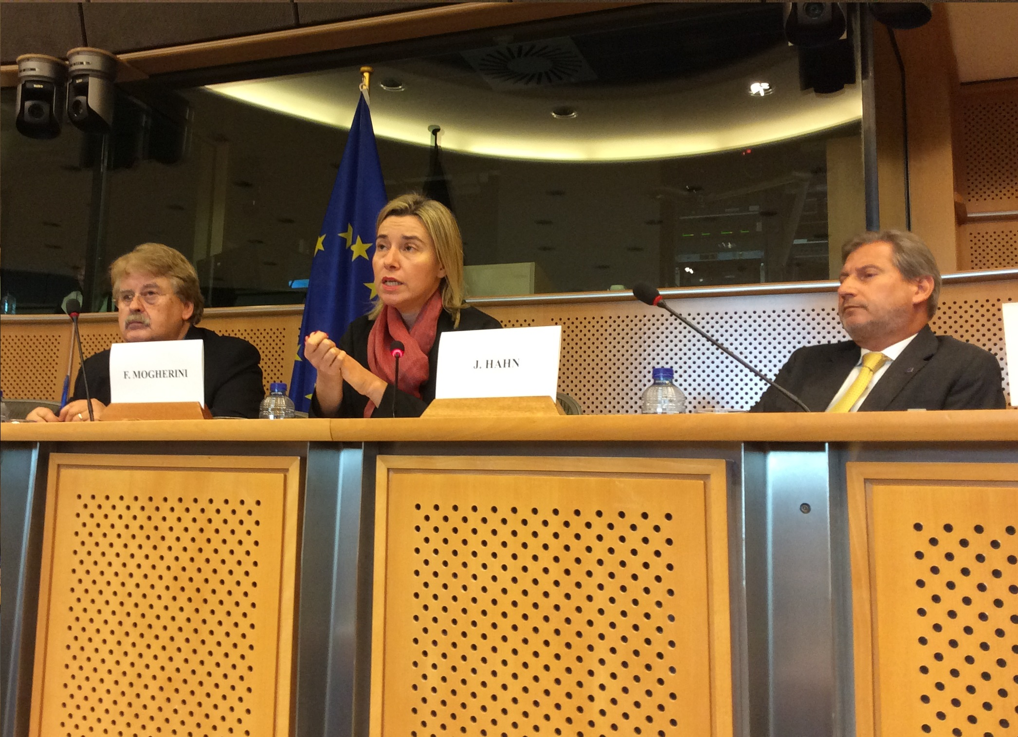 On 18 November, VP/HR Federica Mogherini and Commissioner Johannes Hahn presented the joint communication on the review of the European Neighbourhood Policy to the Committee on Foreign Affairs of the European Parliament.