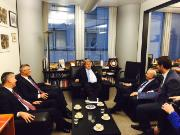 AFET Chair Elmar Brok and the Prime Minister of Kosovo Isa Mustafa discuss EU-Kosovo relations