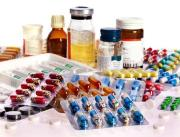colourful medicaments displayed