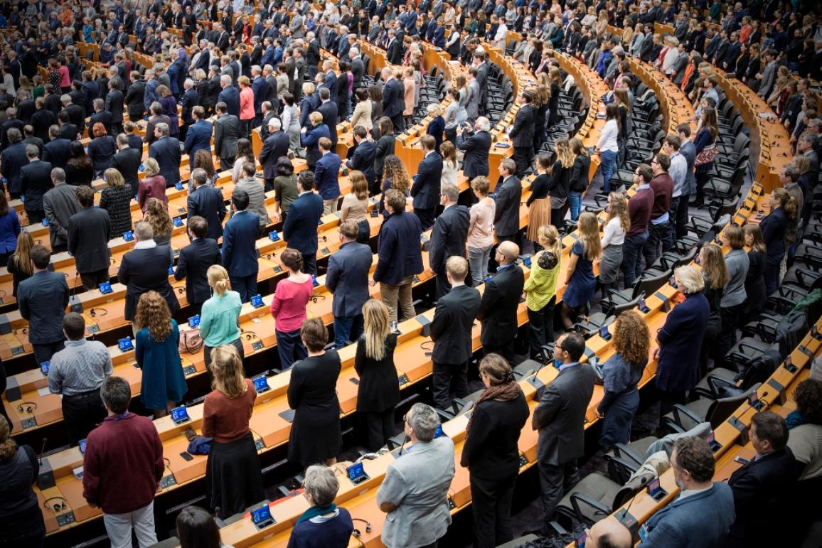 Minute of silence in Parliament plenary chamber after the Paris attacks