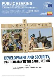DEVE SEDE hearing Development and Security, particularly in the Sahel region