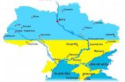 SEDE map Ukraine in blue and yellow