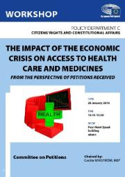 workshop on the impact of the economic crisis  on access to health care and medicines