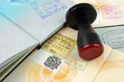 Stamps and visa on passports