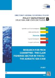 "Cover of Study on ""The Clam Fisheries Sector in the EU - the Adriatic Sea Case"""