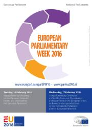 Poster for the European Parliamentary Week 2016