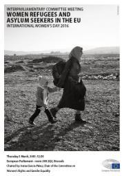 Poster Women Refugees and asylum seekers in the EU International Women's Day 2016