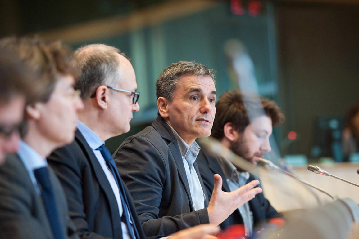 Greek Finance minister Euclid Tsakalotos in ECON