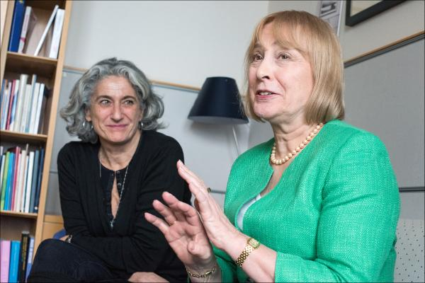 French photographer Marie Dorigny and MEP Mary Honeyball (S&D, UK)