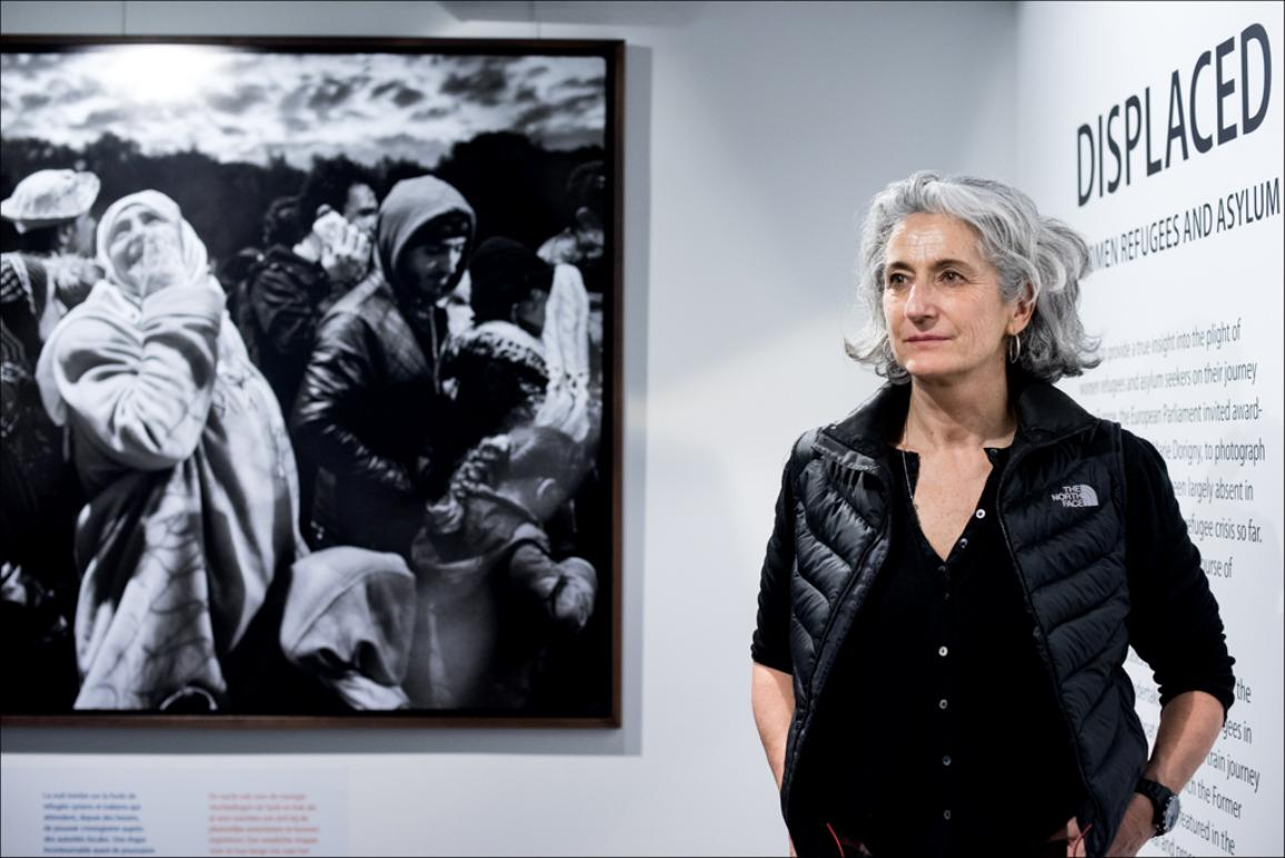 "The European Parliament's Visitors' Centre, the Parlamentarium, hosts ""Displaced"", a collection of photographs taken by Marie Dorigny until 1 June 2016."