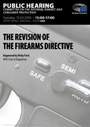 IMCO Public hearing on the revision of the Firearms Directive