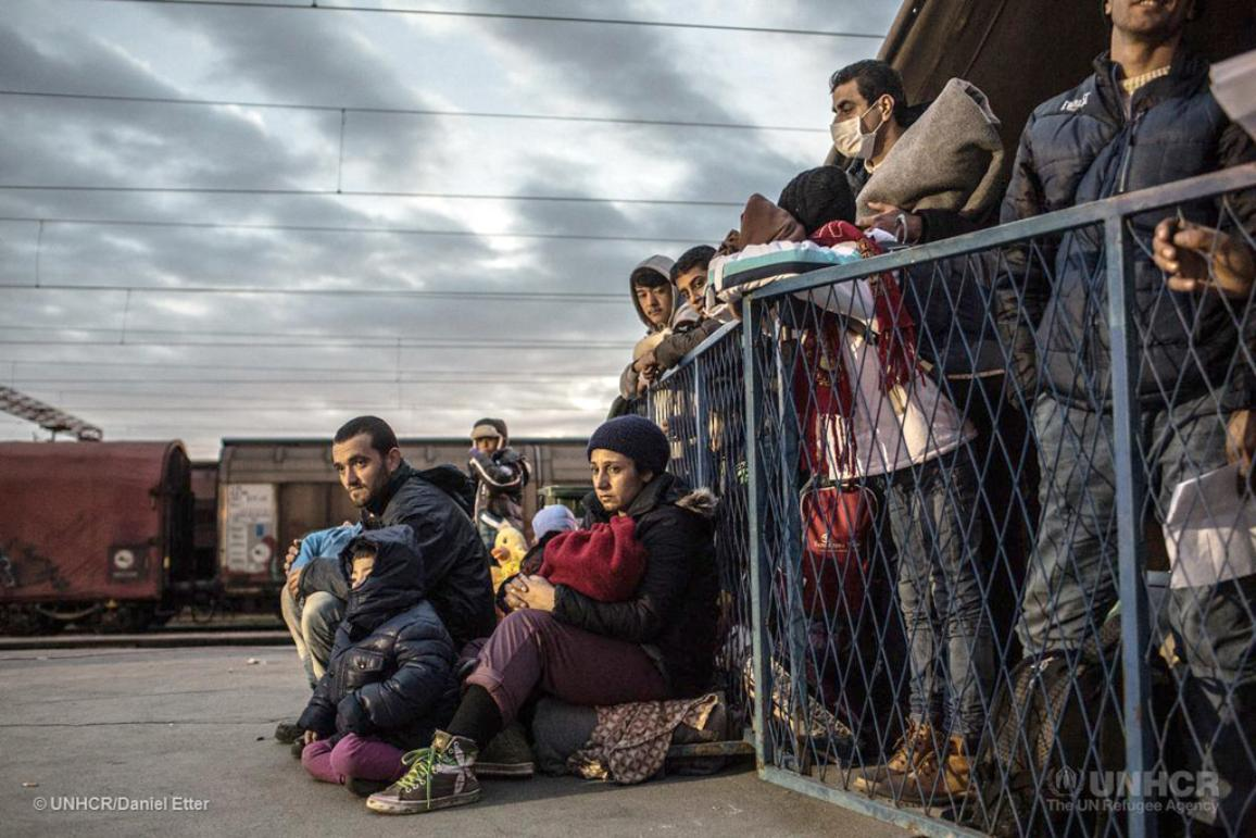 Serbia. Refugees and migrants transit through the Balkans