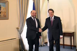 President Schulz meets President Anastasiades_