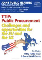 IMCO/INTA Joint Public Hearing TTIP Public Procurement - Challenges and opportunities for the EU and the US