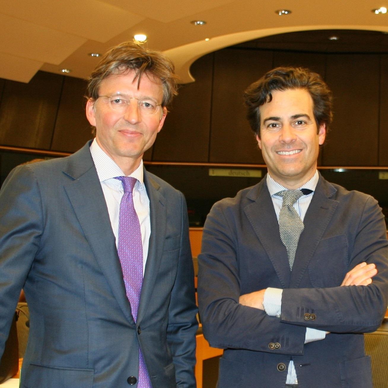 EMIS Rapporteurs (from left): Gerben-Jan GERBRANDY (ALDE),  Pablo ZALBA BIDEGAIN (EPP)