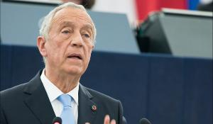 The new President of Portugal, Marcelo Rebelo de Sousa, elected on 24 January 2016, delivers a speech in the European Parliament