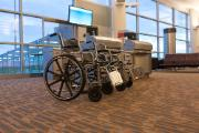 Wheelchairs on standby at airport