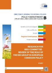 Cover page for the Study on Review of the Role of the EIB Group in European Cohesion Policy