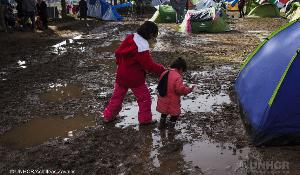 Greece. Thousands of refugees mainly from Iraq and Syria are stranded at the village of Idomeni near the Greek - FYROM border © UNHCR/Achilleas Zavallis
