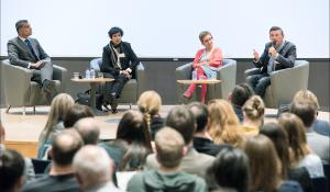 """Debate with Taslima Nasreen - exile Bangladeshi  writer, feminist, a campaigner against extremism in all religions, Sakharov Prize Laureate, after the movie """"My Jihad"""" of the One World Festival."""