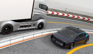 Illustration image of a self driving car on highway ©AP Images/ European Union-EP