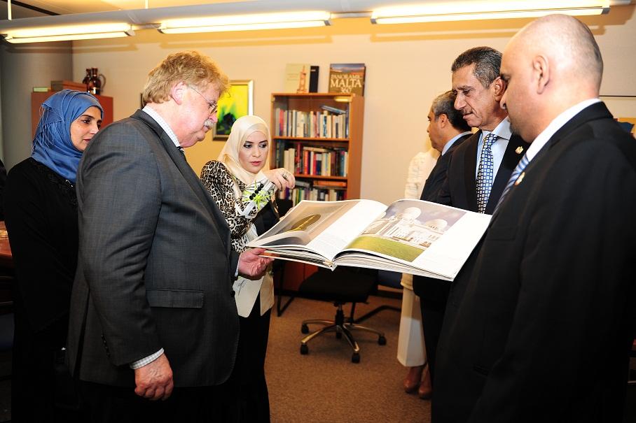 Chairman Brok with Dr Amal Abdullah Al Quabaisi