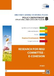 Cover page of a study on Research for REGI committee - e-cohesion