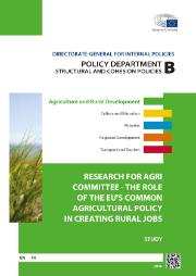 Study: The role of the EU's CAP in creating rural jobs