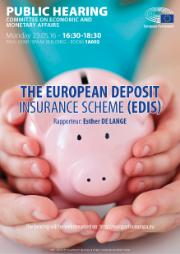 Poster Public hearing on European deposit Insurance Scheme