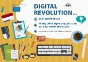 Digital revolution mini-conference poster for Open Day Brussels 2016