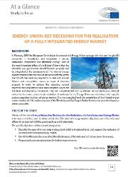 Energy union: Key decisions for the realisation of a fully integrated energy market