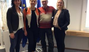 ITRE- ja ENVI-delegaatiot vierailivat keskiviikkona parlamentin Suomen-tiedotustoimistolla.