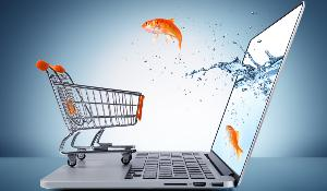 goldfish in e-commerce cart concept ©AP Images/ European Union-EP