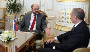 Martin Schulz a Andrej Kiska