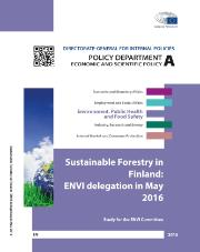 Sustainable Forestry in Finland ENVI Delegation in May 2016