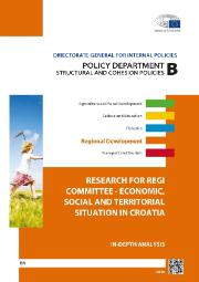 cover page of a study on economic, social and territorial situation in Croatia