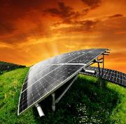 solar panel in green fields