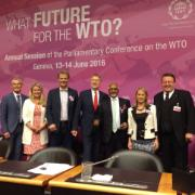 Members participating in the Annual Session of the Parliamentary Conference on the WTO in Geneva