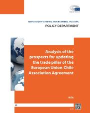 Cover page of a study on the update of trade chapter in EU-Chile Association Agreement