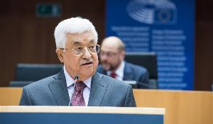 Palestinian President, Mahmoud Abbas, puts his state's case to MEPs