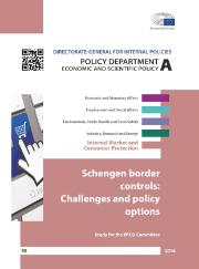Study: Schengen Border Controls: Challenges and Policy Options