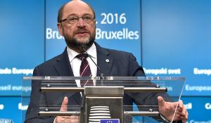 Press conference of the European Parliament President Martin Schulz